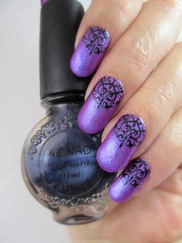 Franken Goth nail art by NinaB