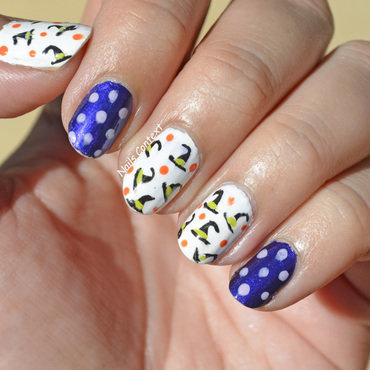 Witch Hats  nail art by NailsContext