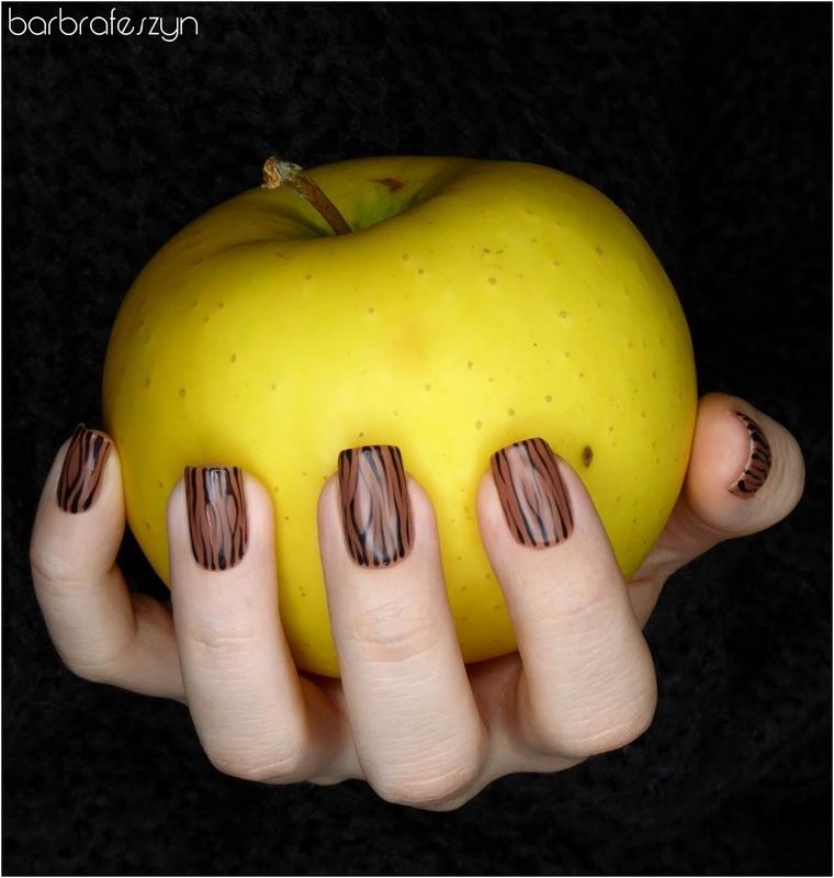 Nails like wood nail art by barbrafeszyn