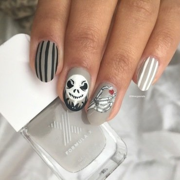 Jack skellington  nail art by Massiel Pena
