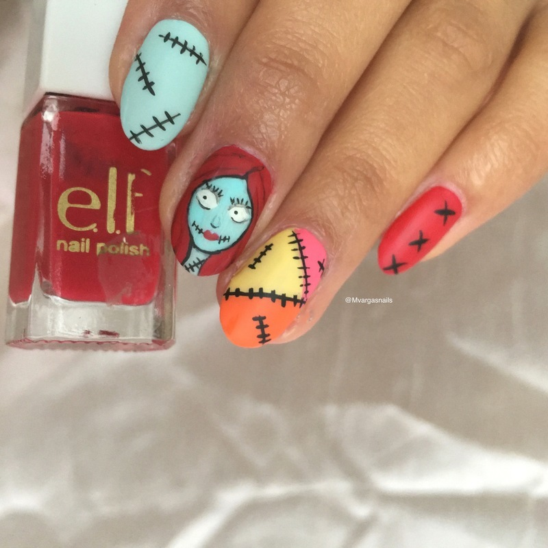 Sally nail art by Massiel Pena