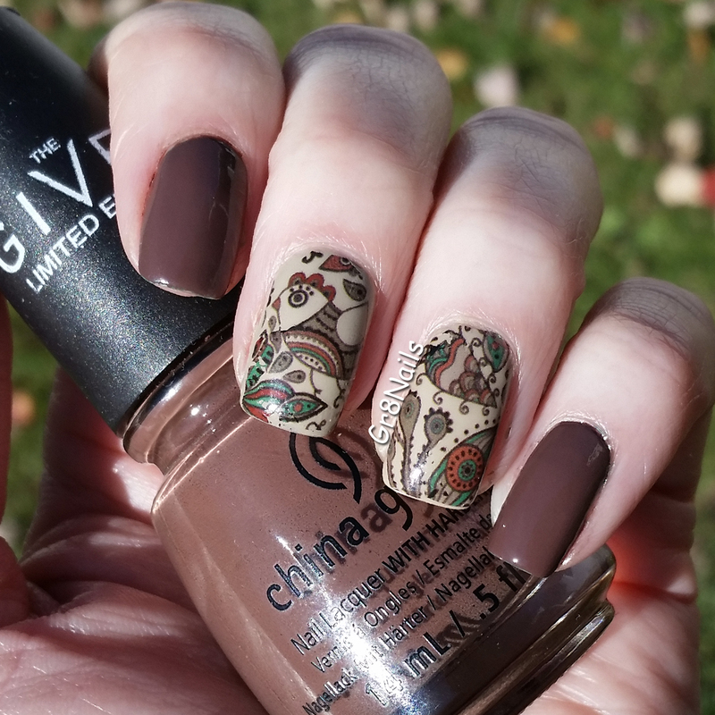 Fall Water Decals nail art by Gr8Nails