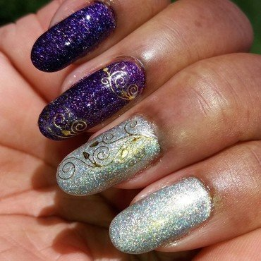 Holo Goodness nail art by Jackie Bodick