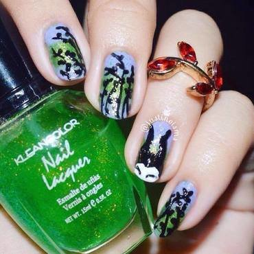 Maleficent nail art by ℐustine