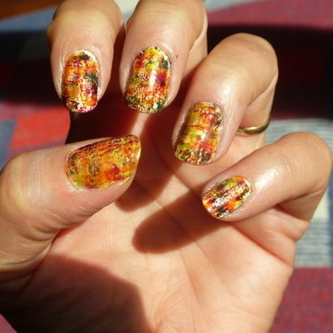 Fall colors nail art by Barbouilleuse