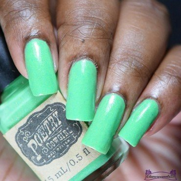 Poetry Cowgirl Nail Polish Patty O'Green Swatch by glamorousnails23