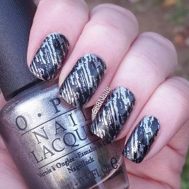 Lina Stamping Plate nail art by Gr8Nails