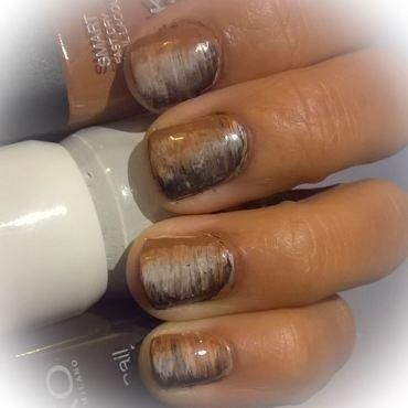Macchiato Fan Brush Manicure 💅  nail art by Avesur Europa
