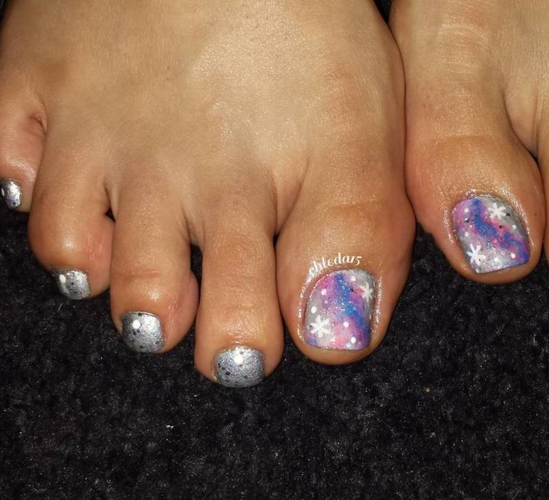 Unicorn Galaxy or Into the Gal-Is-She nail art by chleda15