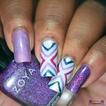 X Marks The Spot nail art by glamorousnails23