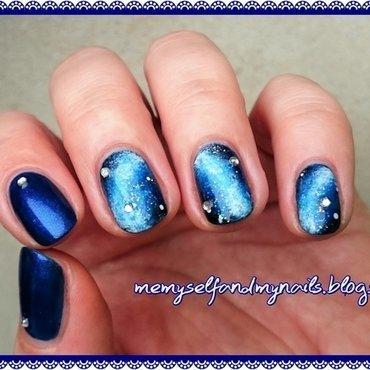Galaxy nail art by ELIZA OK-W