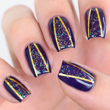 Glitter Cut-Out nail art by xNailsByMiri