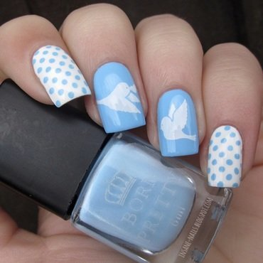 Matching manicures dots and birds 1 thumb370f
