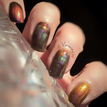 Tweed nail art by Vernimage