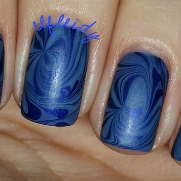 #watermarblepracticewed 11-02-2016 nail art by Jenette Maitland-Tomblin