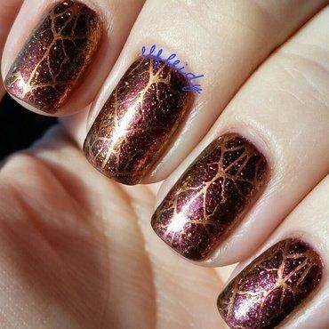 Leaves nail art by Jenette Maitland-Tomblin