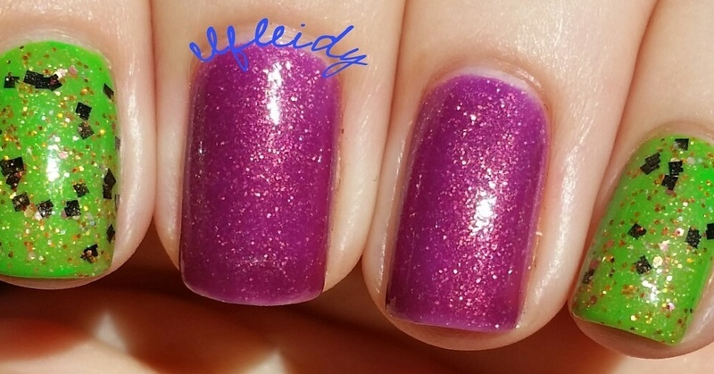 China Glaze Drink up Witches, SoFlaJo Spider Funk, and China Glaze We Got the Beet Swatch by Jenette Maitland-Tomblin