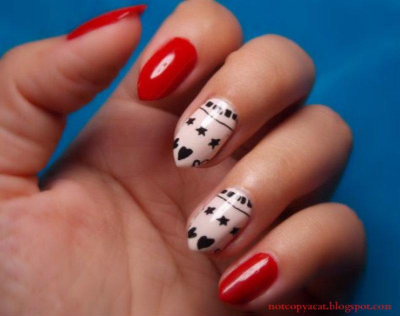 Printed nails nail art by notcopyacat