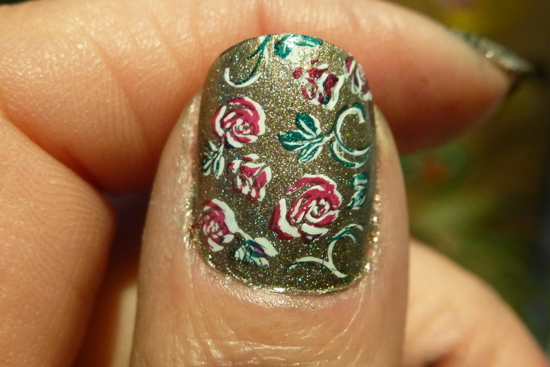 Draw me a garden nail art by Barbouilleuse
