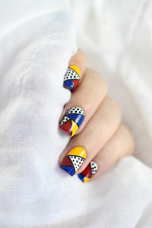 Pop Art (Tutorial) nail art by Marine Loves Polish