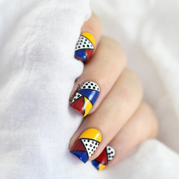 Pop Art (Tutorial) nail art by Marine Loves Polish