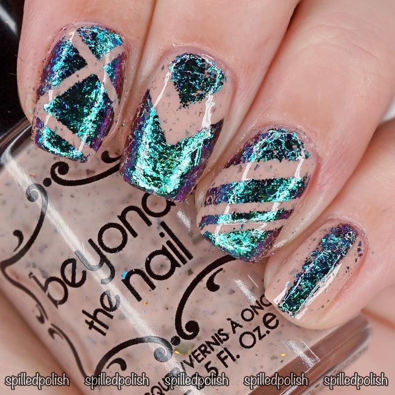 Flakies nail art by Maddy S