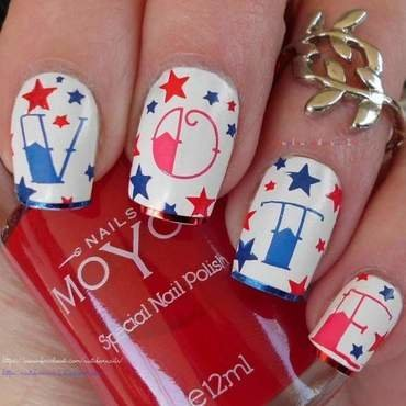 Election Day nail art by Angelique Adams
