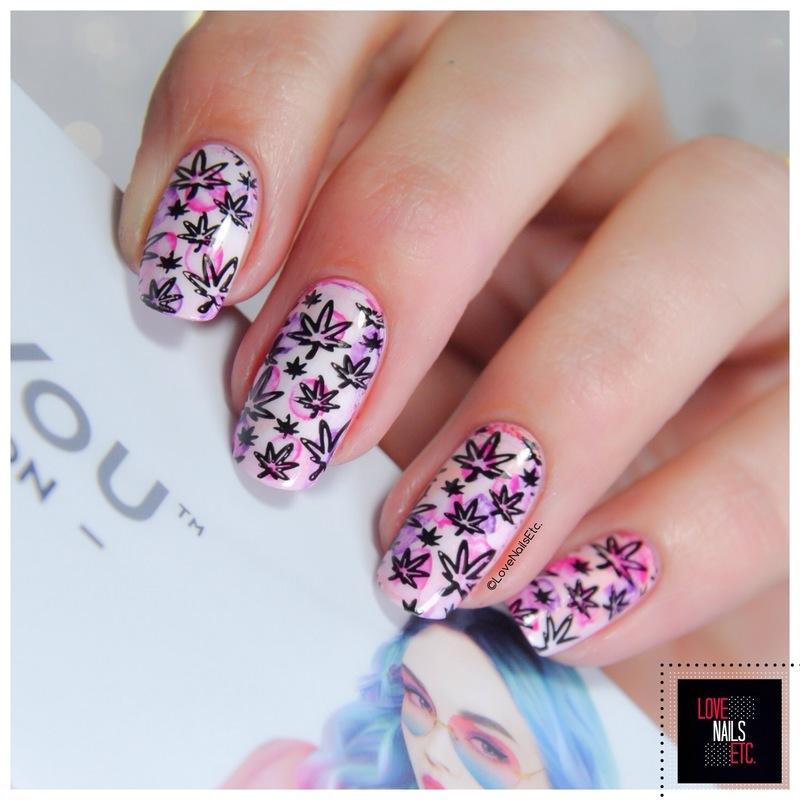 Cannabeach! nail art by Love Nails Etc
