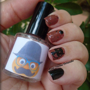 Halloween 2016 nail art by Dora Cristina Fernandes