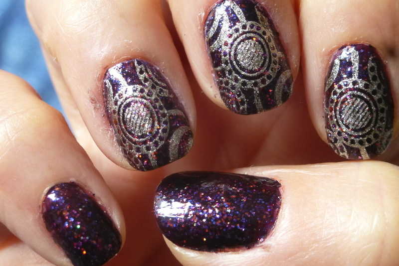 Violetta nail art by Barbouilleuse