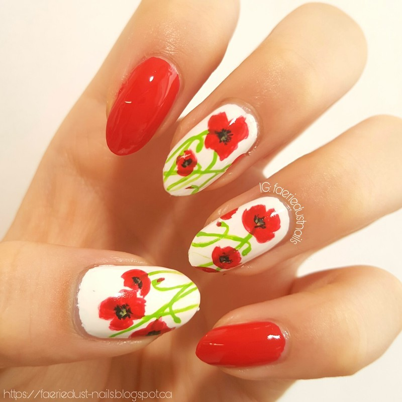 Lest We Forget nail art by Shirley X.