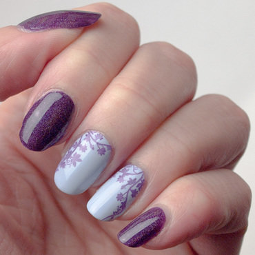 Violet vines nail art by What's on my nails today?