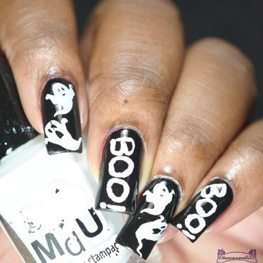 Ghosts Nail Art nail art by glamorousnails23