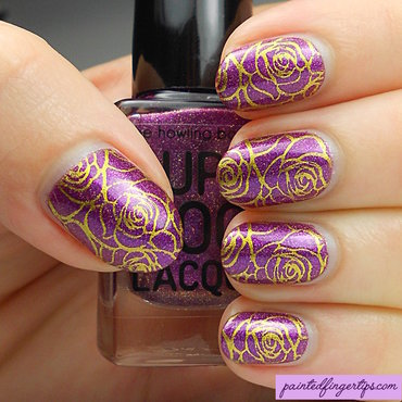 Purple with gold roses thumb370f