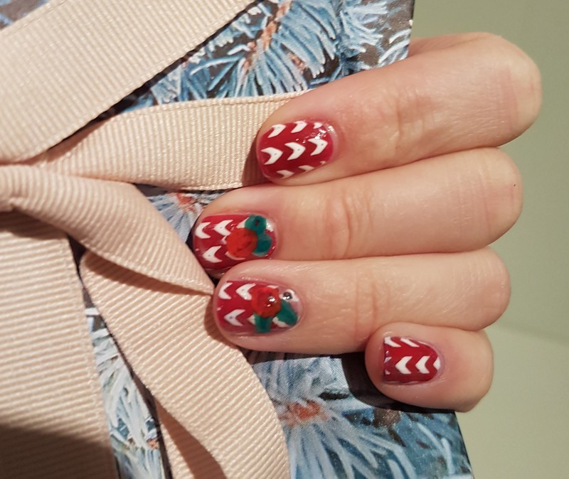 The first day of Christmas nail art by TheSailorWoman