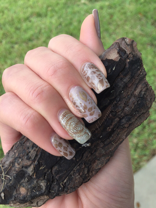 Fall inspired nail art  nail art by Happy_aries