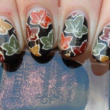 #clairestelle8nov Leaves nail art by Plenty of Colors