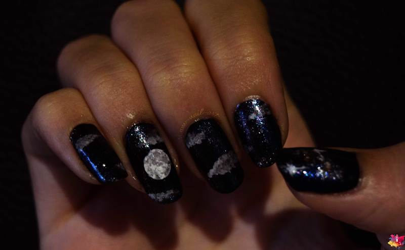 Super Moon nail art by i-am-nail-art