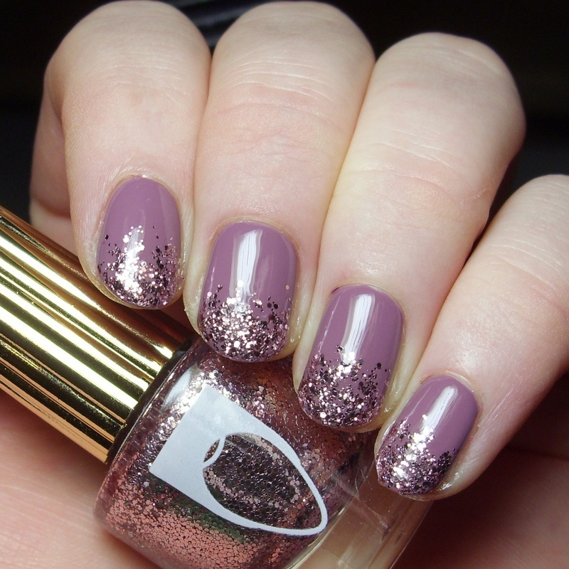 Flossgloss The Pink Nugget and Flossgloss Mauve wives Swatch by nailicious_1
