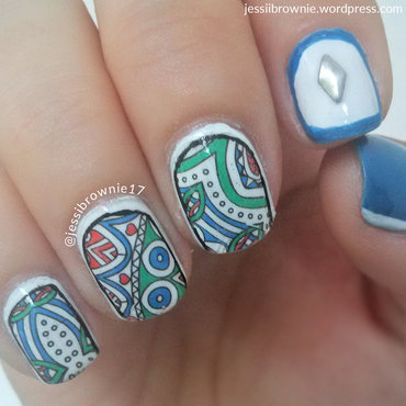 Pop Deco ft Nicole Diary water decals nail art by Jessi Brownie (Jessi)