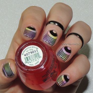 Intermède Musical Coloré nail art by Ka'Nails