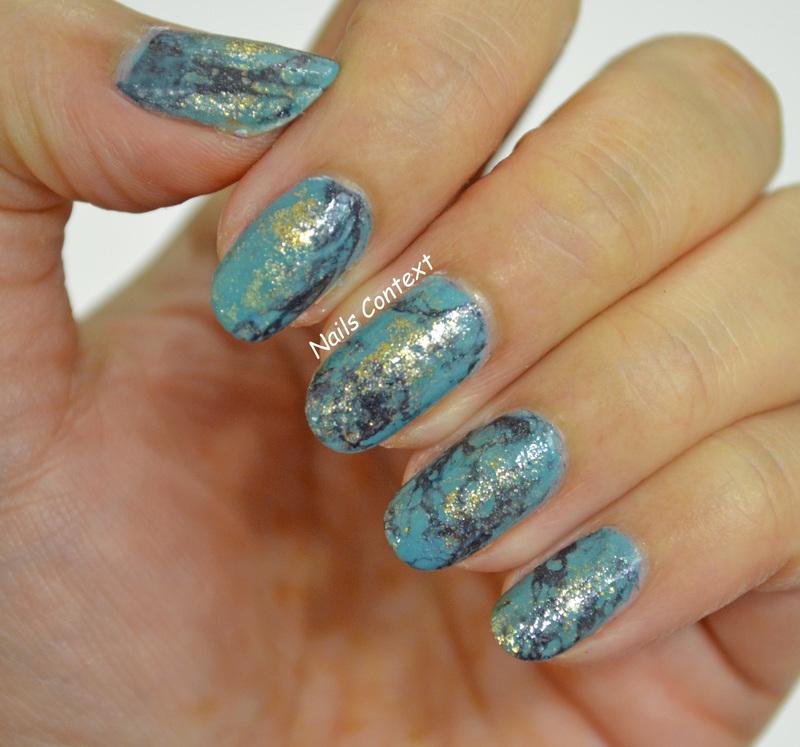 Turquoise Stone Nails  nail art by NailsContext