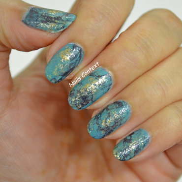 Turquoise Stone Nails  nail art by NailsContext