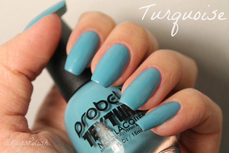 Probelle Textured Turquoise Swatch by Kay's Polish