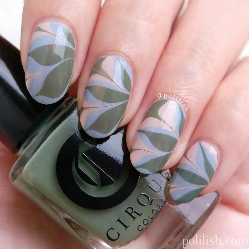 Watermarble featuring Cirque Colors nail art by polilish