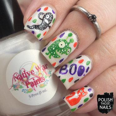 Happy Creepy Creatures Halloween! nail art by Marisa  Cavanaugh