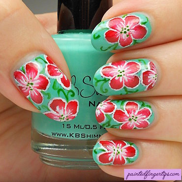 Red flowers freehand thumb370f