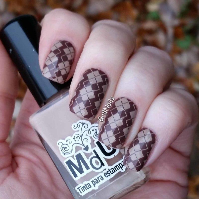 Argyle  nail art by Gr8Nails