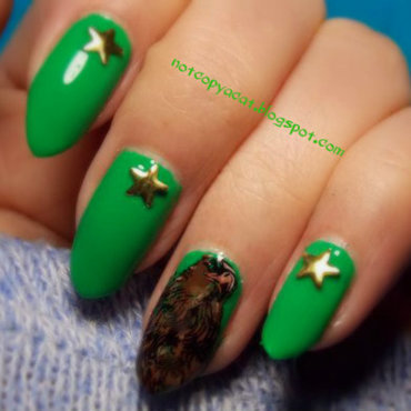 You're in the army now  nail art by notcopyacat