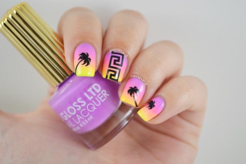 Sunset nail art by Julia